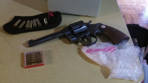 Recovered firearm & drugs
