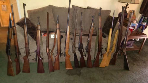 Rifles recovered during search