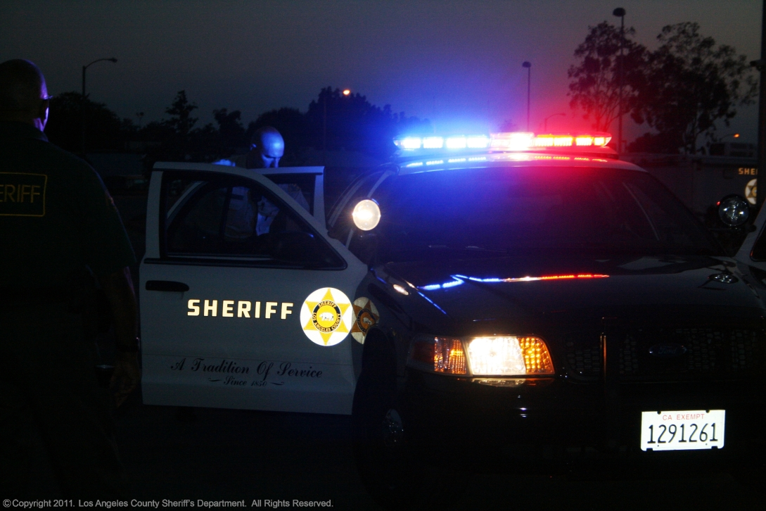Deputies on patrol during the night.