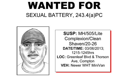 Suspect wanted for Sexual Battery