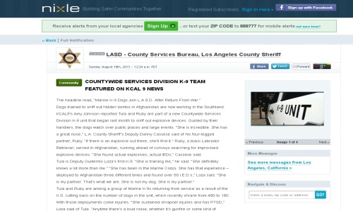 County Services Bureau Sample News Story