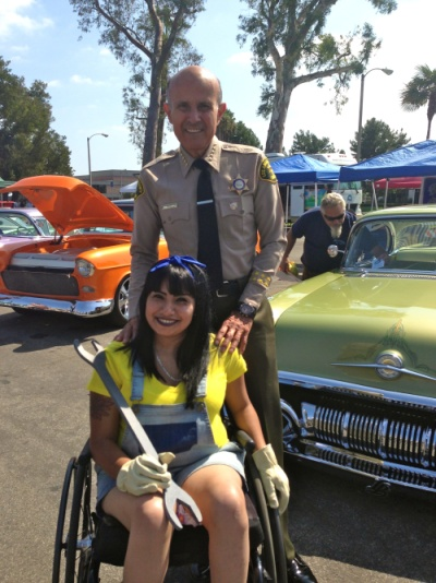 Sheriff Lee Baca and Volunteer