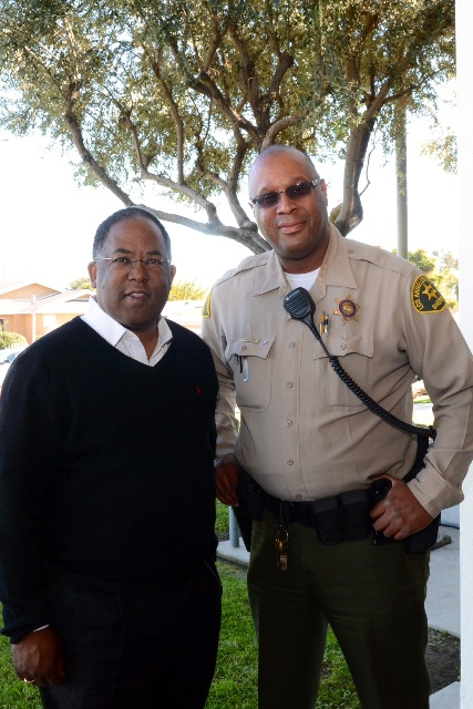 Picture of Los Angeles County Supervisor Mark Ridley-Thomas with Deputy Funches