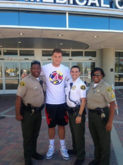 NBA Player Blake Griffin with Sheriff's Personnel