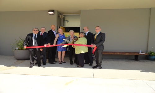 Picture of Ribbon Cutting Ceremony for the Youth Center.