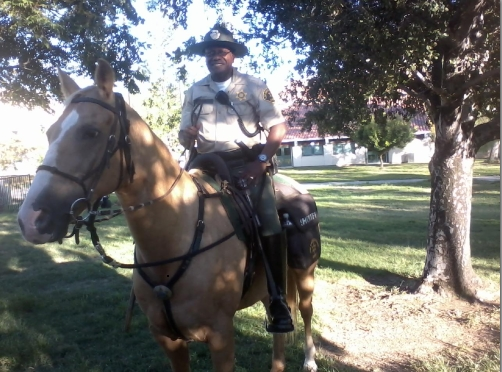 Dep. Lloyd riding Colonel