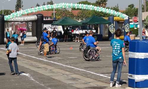 Wheelchair Games in parking lot