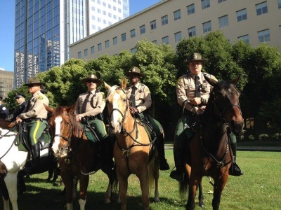 Picture of the Los Angeles County Sheriff's Department Mounted Enforcement Unit at the event