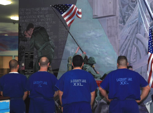 Mural Depicting Military Veterans at South Facility