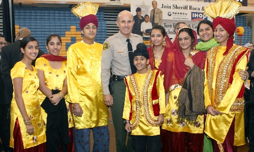 Sheriff Baca attending a community event