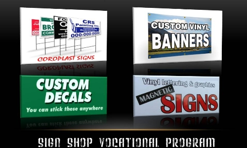 Sign Shop Vocational Program