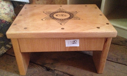 Custom Engraved Wood Foot Stool