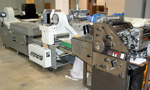 Commercial-Grade Equipment is used throughout the NCCF Print Shop