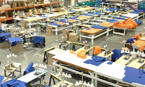 The thousands of square feet are needed to manufacture the items needed throughout the department