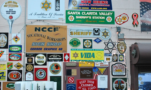 A variety of signs are produced