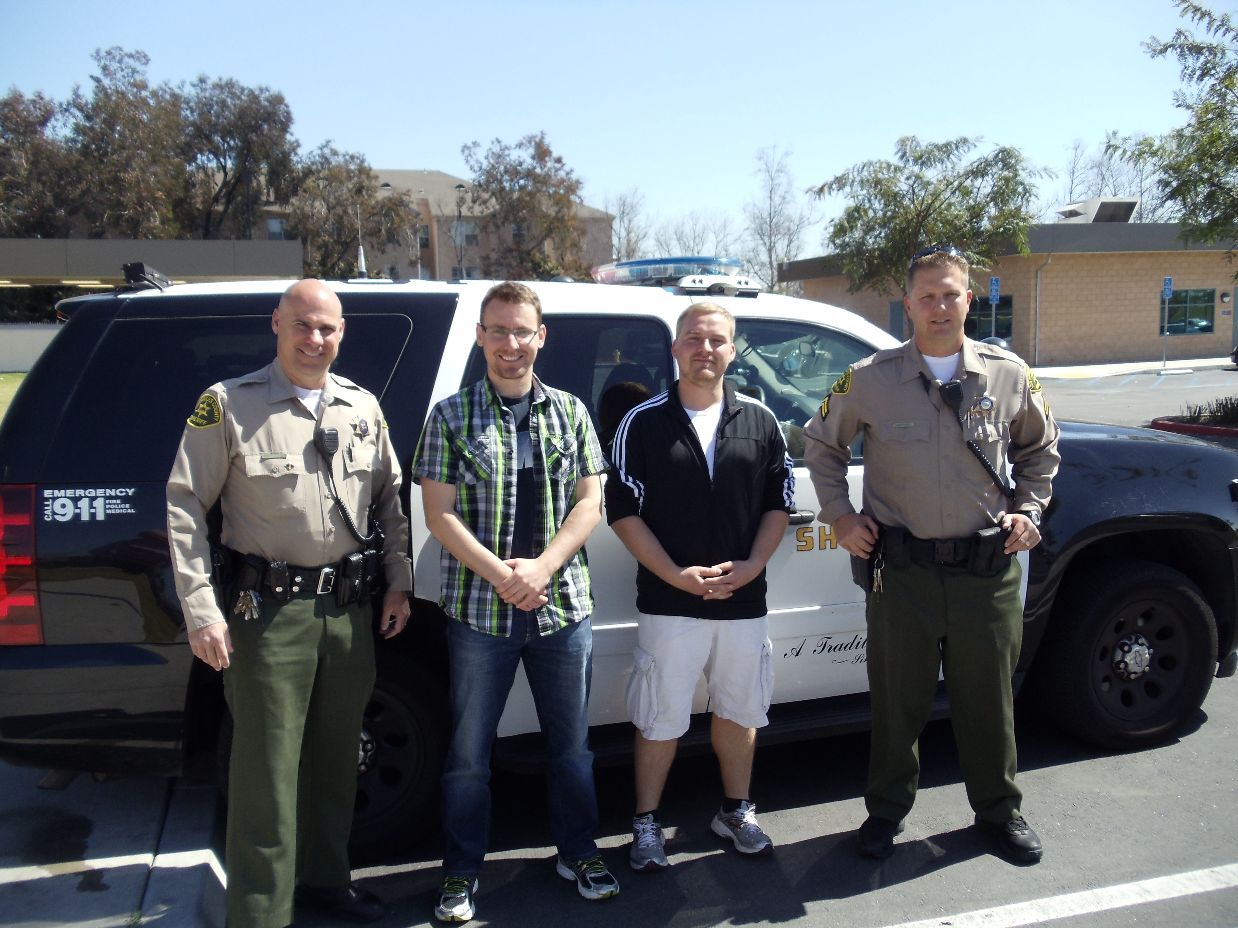 Contables Laughammer and Bolz with Deputies Ebling and Peterson