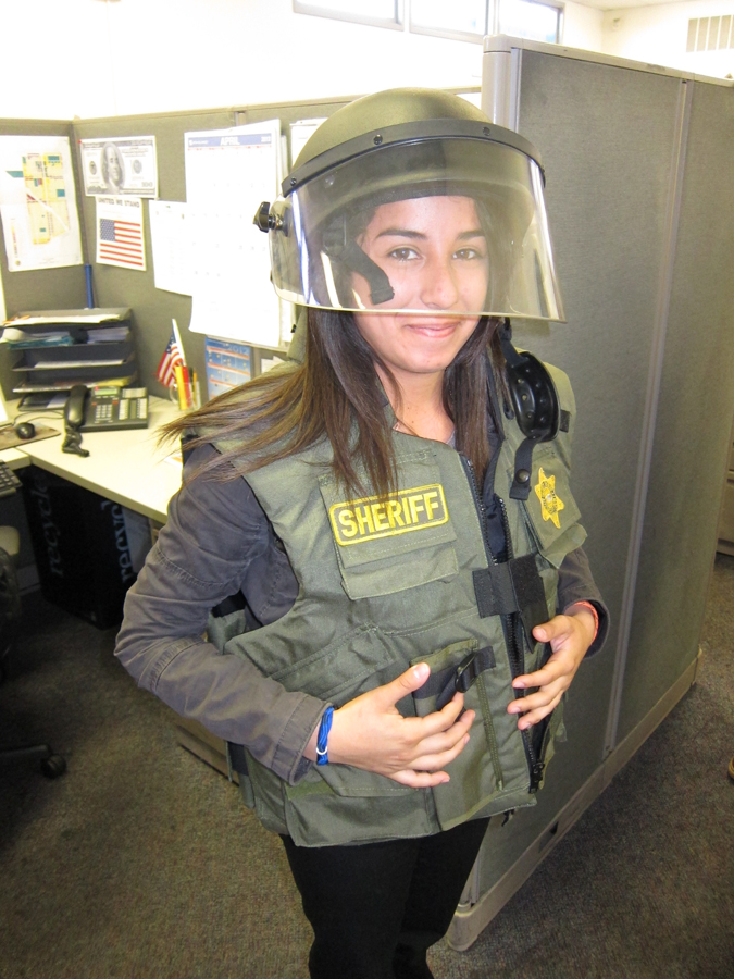 Student Wearing LASD Equipment