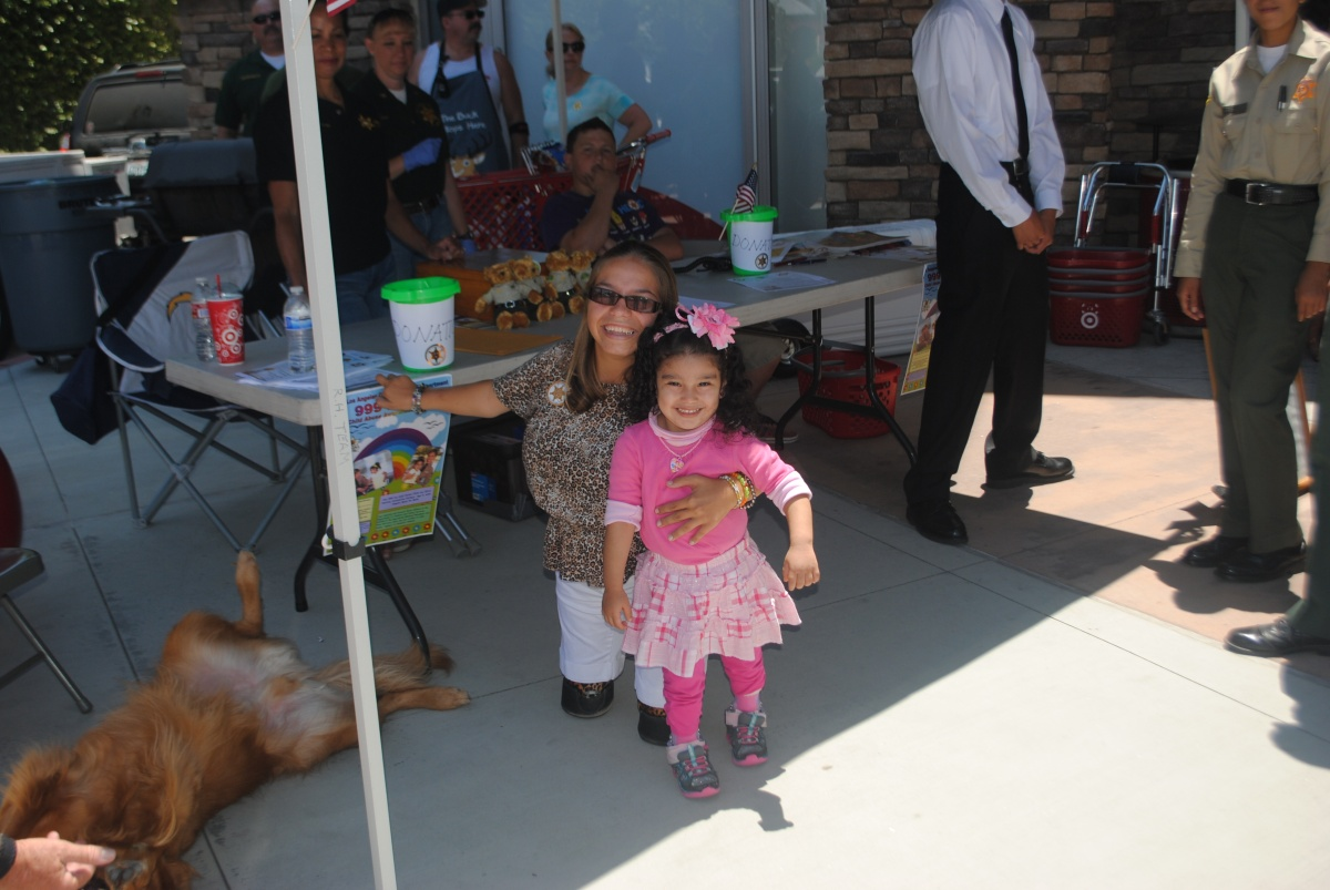 Desiree Cornejo, 3 years old - current poster child for 999 for Kids, and Paige Looney - former 999 for Kids poster child