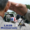 Memorial photo with badge LASD Memorials S