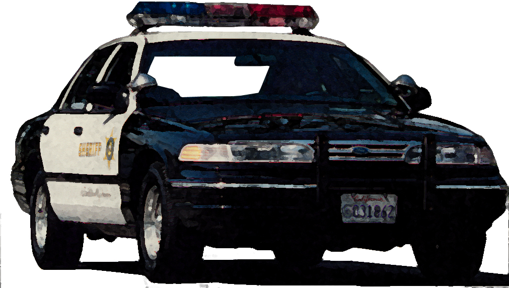 drawing of patrol car
